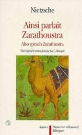 Ainsi parlait zarathoustra - - texte original et version francaise - Couverture - Format classique