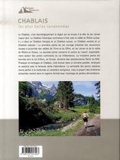 Chablais, les plus belles randonnées - 4ème de couverture - Format classique