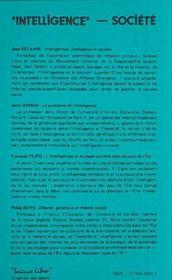 Intelligence Societe - 4ème de couverture - Format classique
