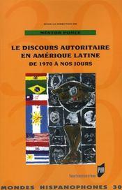 Discours autoritaire en amerique latine de 1970 a nos jours - Intérieur - Format classique