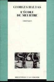Ecole Du Meurtre (L') - Couverture - Format classique