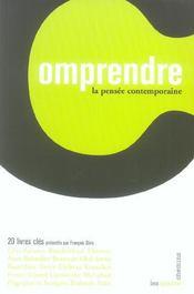 Comprendre La Pensee Contemporaine - Intérieur - Format classique
