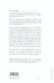 Comprendre La Pensee Contemporaine - 4ème de couverture - Format classique
