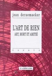 Art De Rien (L') - Couverture - Format classique
