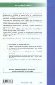 Droit Administratif - 4ème de couverture - Format classique