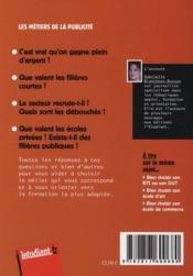 Les métiers de la publicité (édition 2011/2012) - 4ème de couverture - Format classique