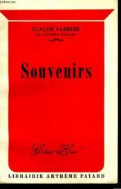 Souvenirs. - Couverture - Format classique