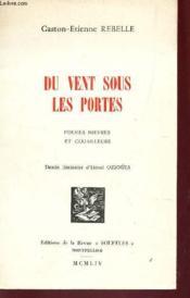 Du Vent Sous Les Portes - Poemes Mievres Et Gouailleurs / Edition Originale. - Couverture - Format classique