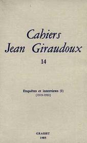 Cahiers Jean Giraudoux T.14 - Intérieur - Format classique