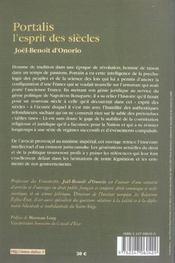 Portalis, l'esprit des siècles - 4ème de couverture - Format classique