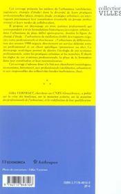 Les professionnels de l'urbanisme ; socio-histoire des systemes professionnels de l'urbanisme - 4ème de couverture - Format classique
