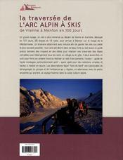 La traversée de l'arc alpin à skis - 4ème de couverture - Format classique