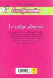 Le cahier d'amour - 4ème de couverture - Format classique