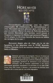 Horemheb Roi D'Egypte T.1 ; Les Complots - 4ème de couverture - Format classique