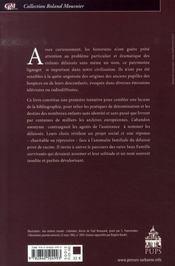 Noms et destins des Sans Famille - 4ème de couverture - Format classique