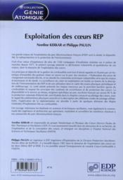 Exploitation des coeurs REP - Couverture - Format classique