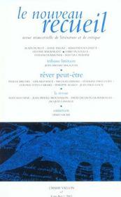Le Nouveau Recueil N 67 ; Rever Peut-Etre - Intérieur - Format classique