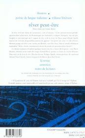 Le Nouveau Recueil N 67 ; Rever Peut-Etre - 4ème de couverture - Format classique