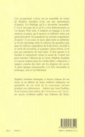 Une Promptitude Celeste - 4ème de couverture - Format classique