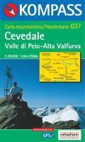 Cevedale/valle di peio 1/25.000 - Couverture - Format classique
