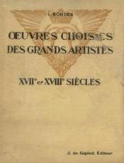 Oeuvres choisies des grands artistes XVIIe -XVIIIe siècles, classe de 2nde - Couverture - Format classique