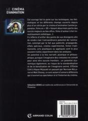 Le cinéma d'animation (2e édition) - 4ème de couverture - Format classique