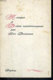 Musique et Poésie ininterrompues - Couverture - Format classique