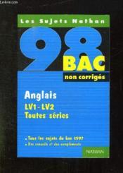 Anglais LV1-LV2 toutes séries - Couverture - Format classique