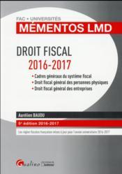 Droit fiscal (édition 2016/2017) - Couverture - Format classique