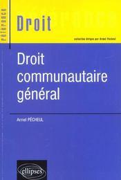 Droit Communautaire General - Intérieur - Format classique