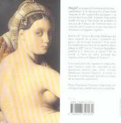 Ingres:La Grande Odalisque - 4ème de couverture - Format classique