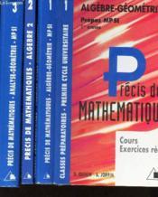 Precis de maths t.3 analyse geometrie mpsi 1ere annee - Couverture - Format classique