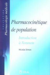 Pharmacocinétique de population ; introduction à nonmen - Intérieur - Format classique
