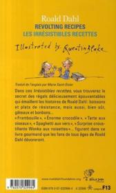 Les irrésistibles recettes de Roald Dahl ; revolting recipes - 4ème de couverture - Format classique