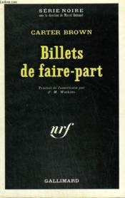 Billets De Faire Part. Collection : Serie Noire N° 1299 - Couverture - Format classique