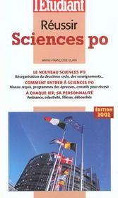 Reussir Sciences Po ; Edition 2002 - Intérieur - Format classique