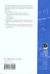 Transactions sur immeubles et fonds de commerce ; gestion immobiliere - 4ème de couverture - Format classique