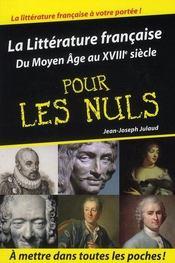 La littérature française pour les nuls t.1 - Intérieur - Format classique
