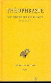Recherches sur les plantes t.3 ; livre 5-6 - Couverture - Format classique