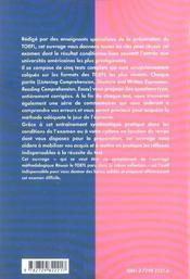 Toefl Epreuves D'Entrainement Anglais - 4ème de couverture - Format classique
