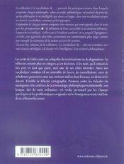 Le vocabulaire de paul valéry - 4ème de couverture - Format classique