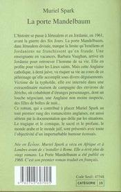 La Porte Mandelbaum - 4ème de couverture - Format classique