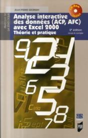 Analyse interactive des données avec excel 2000 ; théorie et pratique (2e édition) - Couverture - Format classique