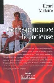 Correspondance Licencieuse - Intérieur - Format classique