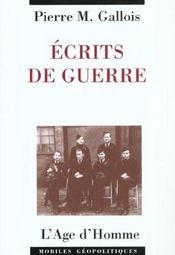 Ecrits De Guerre - Intérieur - Format classique