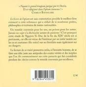 Le Livre De L'Opium - 4ème de couverture - Format classique