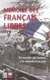 Mémoire des français libres - Couverture - Format classique