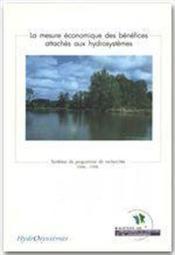 La mesure économique des bénéfices attachés aux hydrosystèmes - Couverture - Format classique