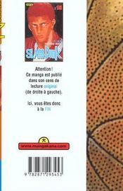 Slam dunk t15 - 4ème de couverture - Format classique