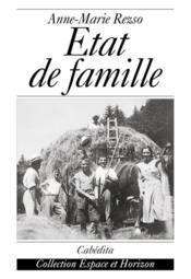 Etat De Famille - Couverture - Format classique